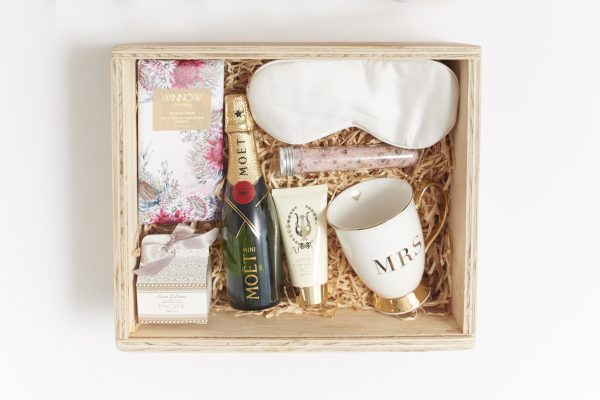 bride gift box filled inclusions