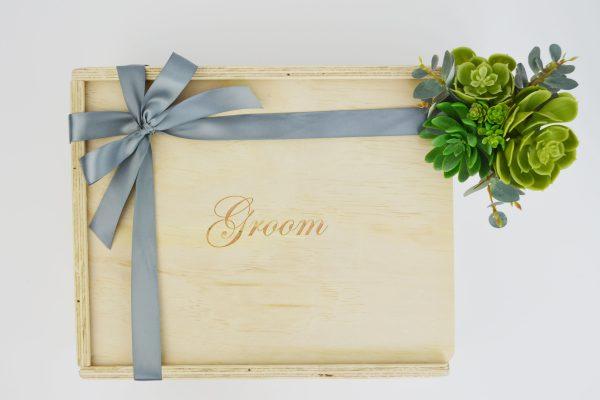 groom gift box