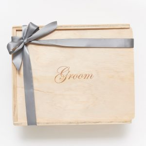 groom gift box custom engraved