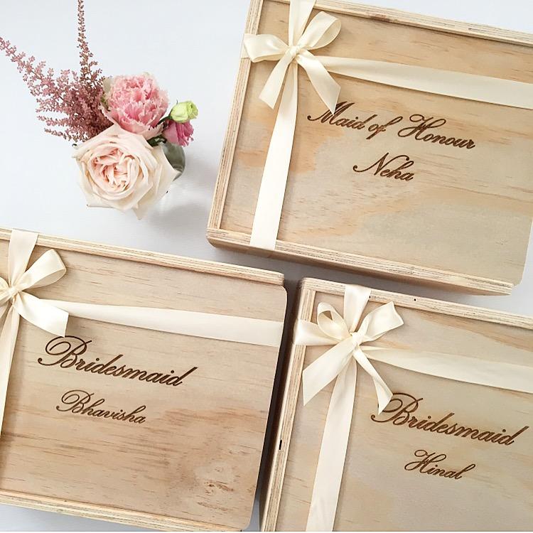 bridesmaid maid matron of honour gift box custom engraved the bridal box co bridal. Black Bedroom Furniture Sets. Home Design Ideas