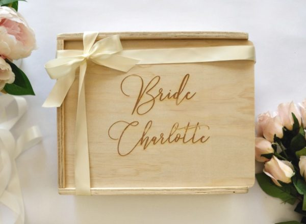 Bride Gift Box Custom engraved