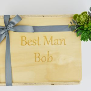 best man custom engraved gift box