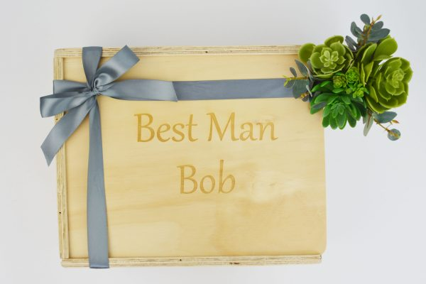 best man custom engraved gift box