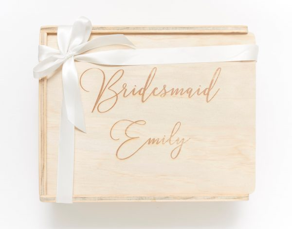 bridesmaid custom engraved