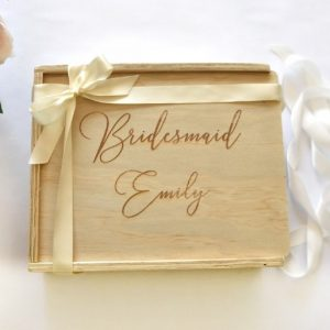 Bridesmaid custom personalised gift box hamper
