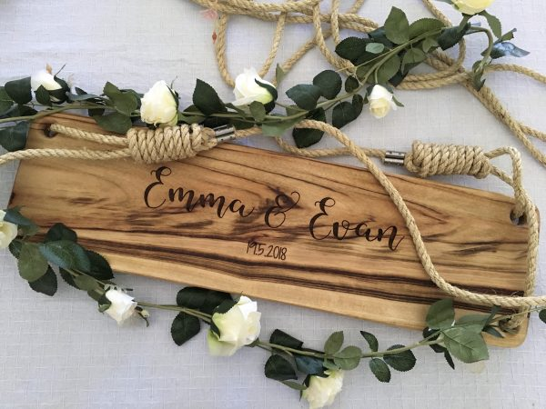 Personalised timber swing