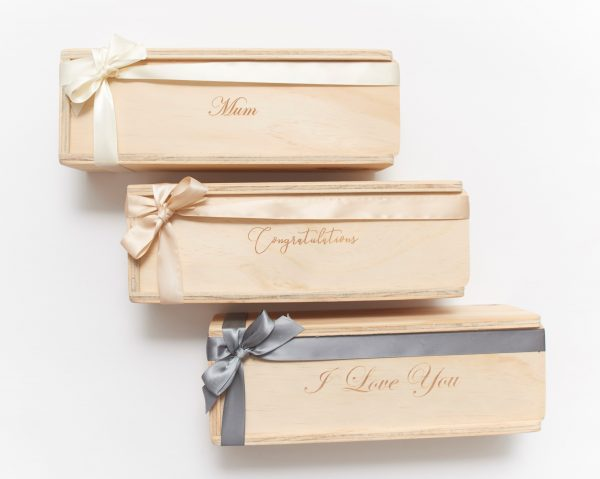 single champagne gift boxes custom engraved