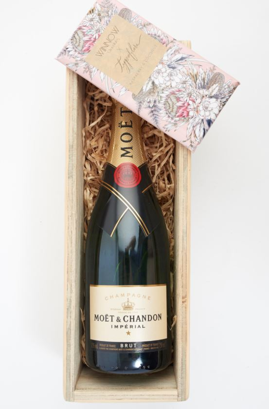 single champagne filled gift box