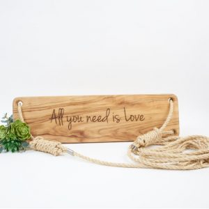 custom engraved wooden swing