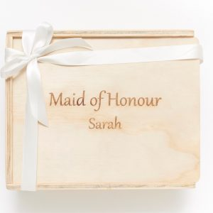 maid of honour custom engraved keepsake gift box