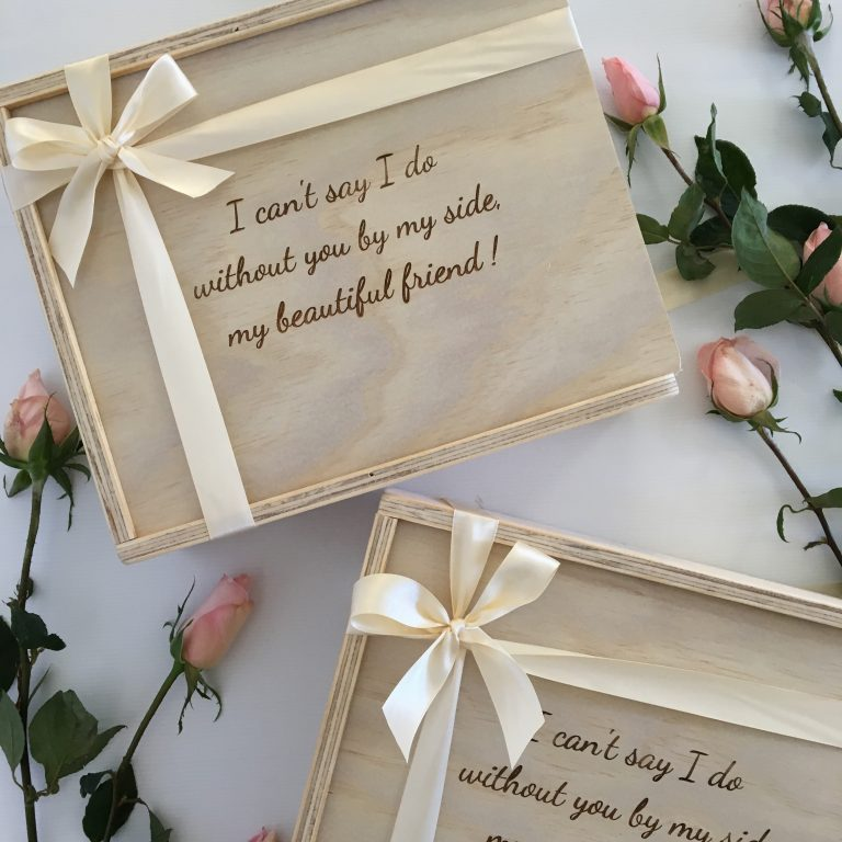 Brides Box: Custom Engraved Wooden Gift Boxes