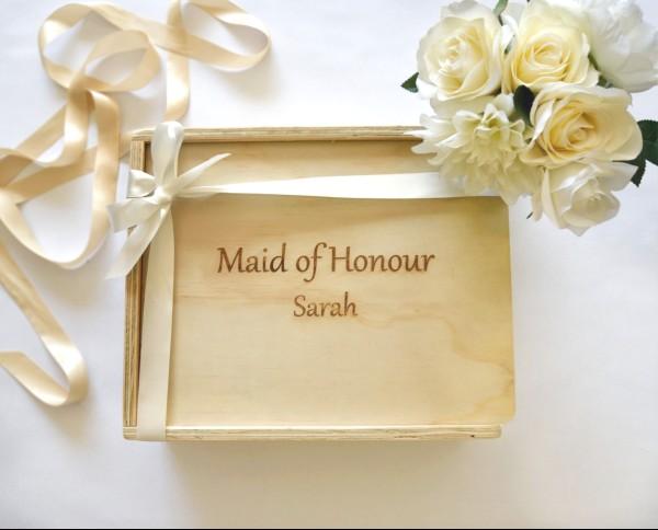 maid of honour gift hamper