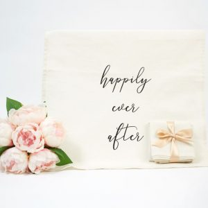 Happily Ever After linen/cotton blend tea towel