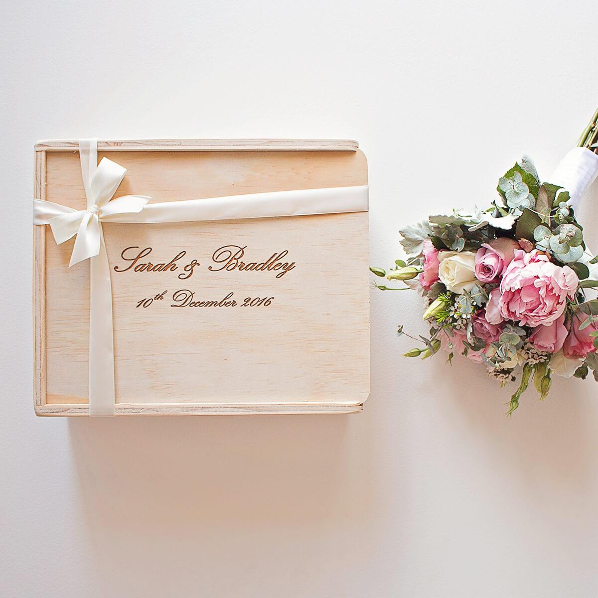 Brides Box: Bride & Groom Custom Engraved Gift Box