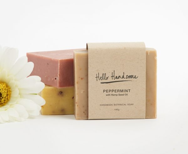 peppermint with hemp seed handmade soap