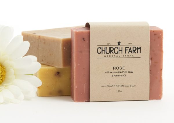 rose soap with australian pink clay