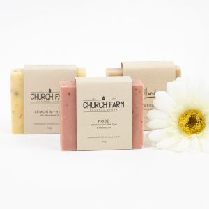 hand made botanical soaps from church farm general store