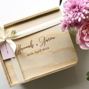 happy couple gift box custom engraved keepsake