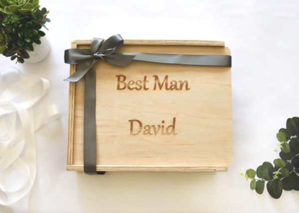 Best Man gift box hamper filled