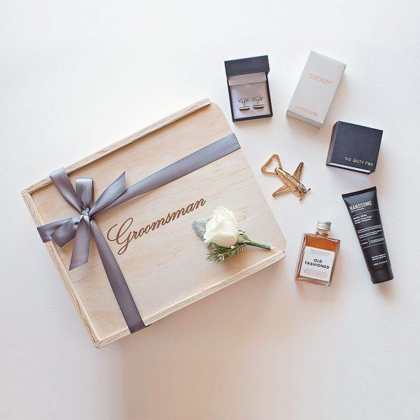 Groomsman keepsake gift box