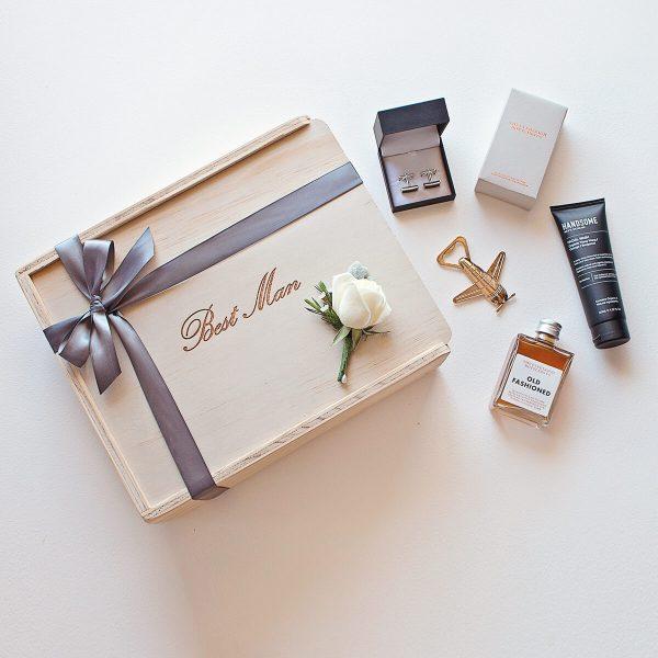 best man keepsake gift box