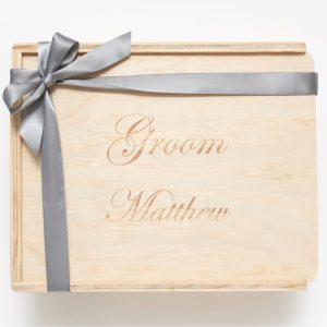 Groom custom engraved keepsake gift box