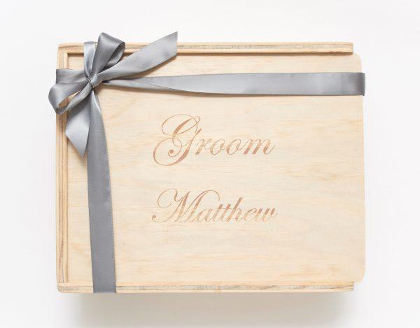 Groom custom engraved keepsake gift box