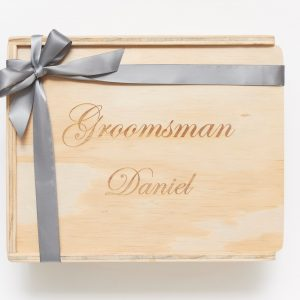 Groomsman keepsake gift box custom engraved