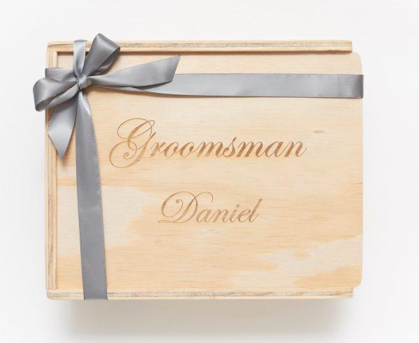 Groomsman keepsake gift box custom engraved