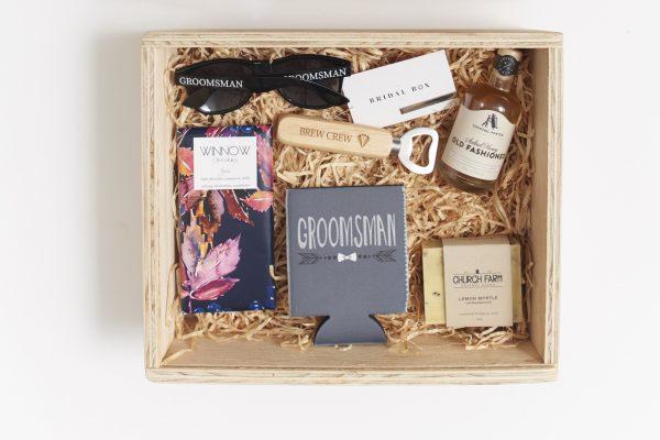 Groomsman keepsake gift box hamper inclusions
