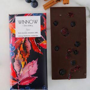 spice dark chocolate winnow chocolate handmade