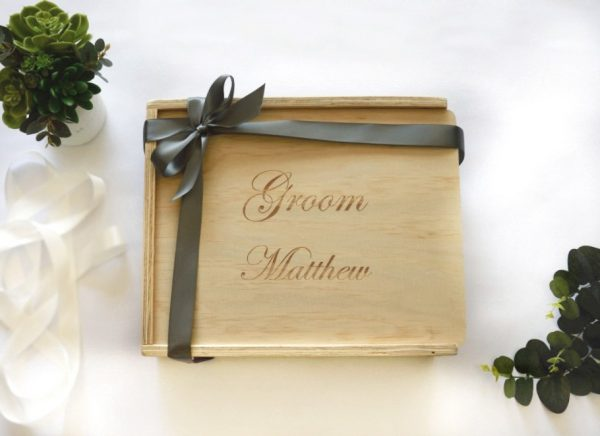Groom gift box filled hamper