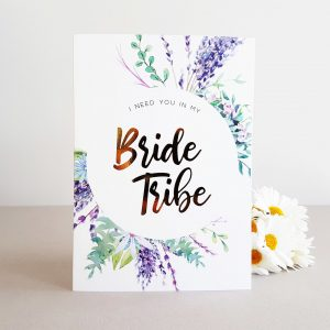 bride tribe gold foil cards