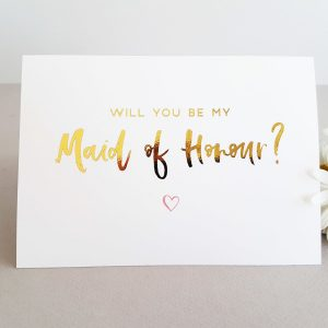 foil card maid of honour
