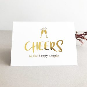 gold foil cards cheers