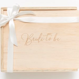 bride to be gift box keepsake
