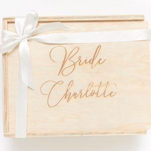 Bride Custom engraved keepsake gift box