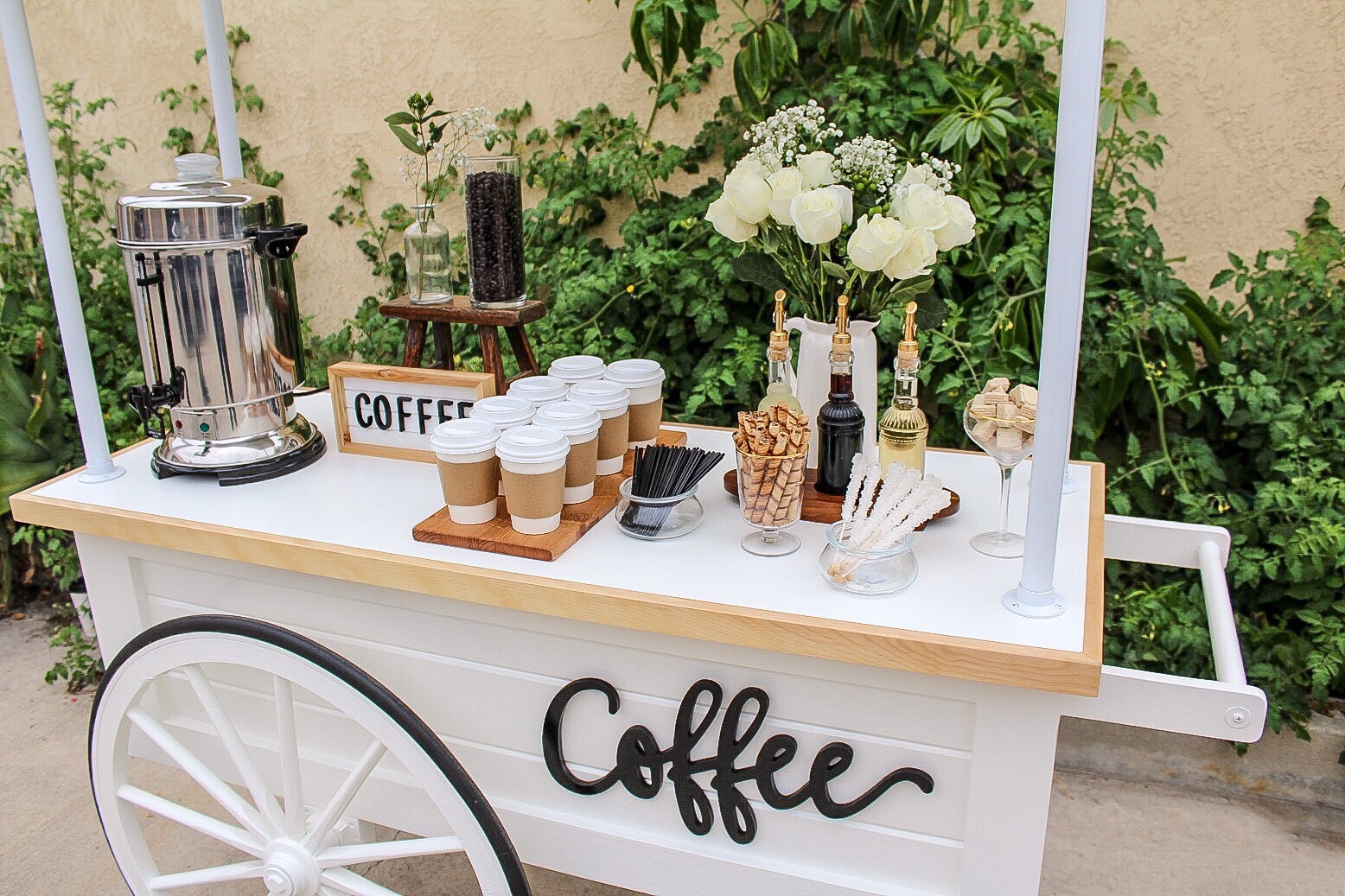 Wedding coffee cart typsy gypsy