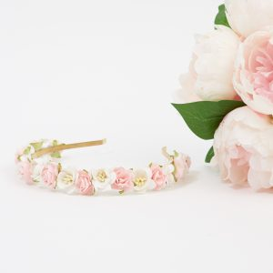 flower girl flower crown headband
