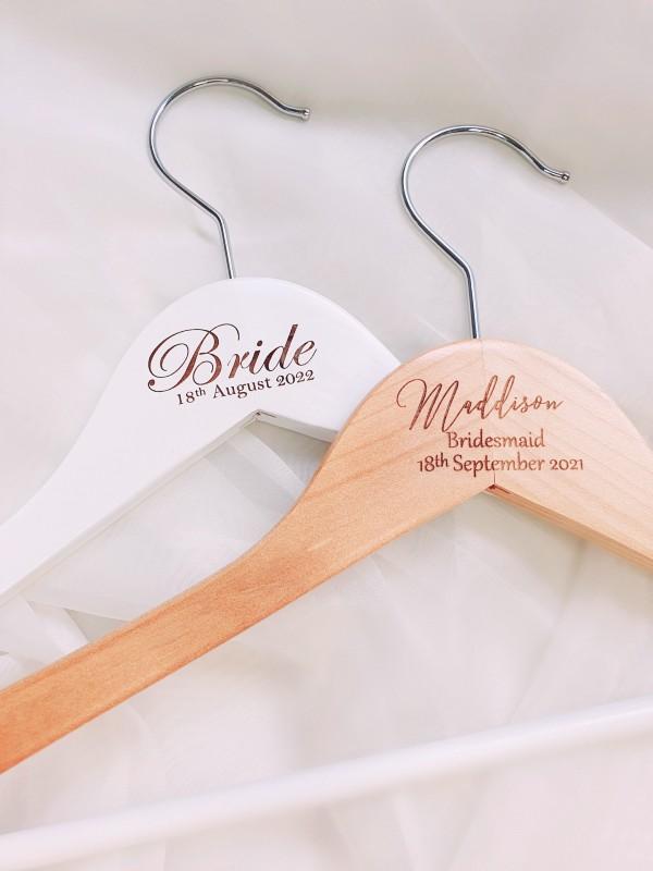 engraving wooden hangers personalised custom