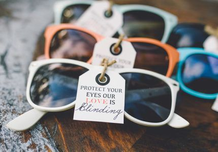 love is blinding sunglasses wedding favours