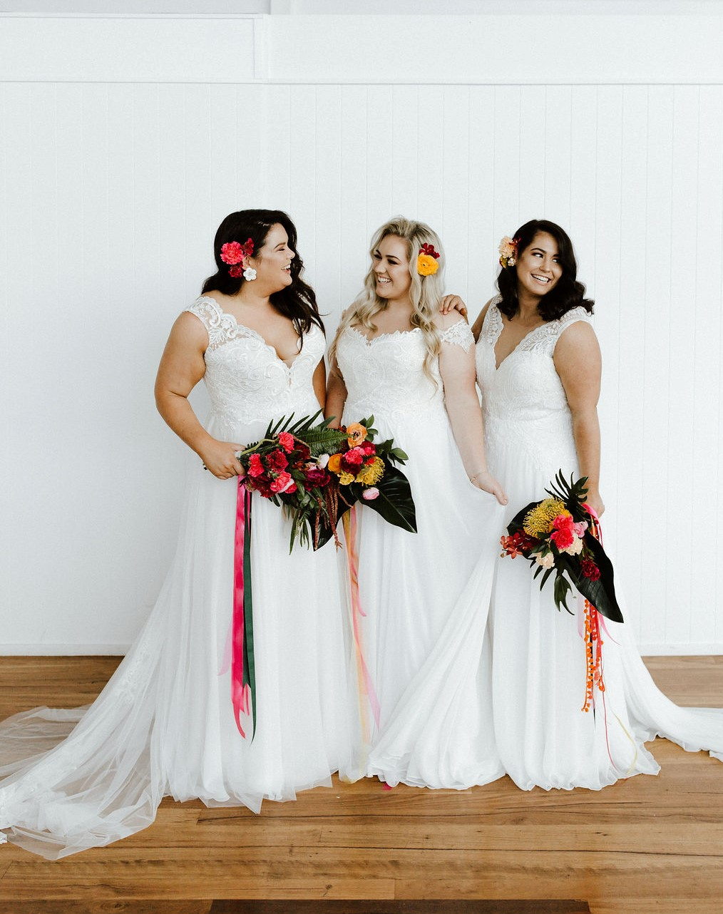 vibrant colourful brides