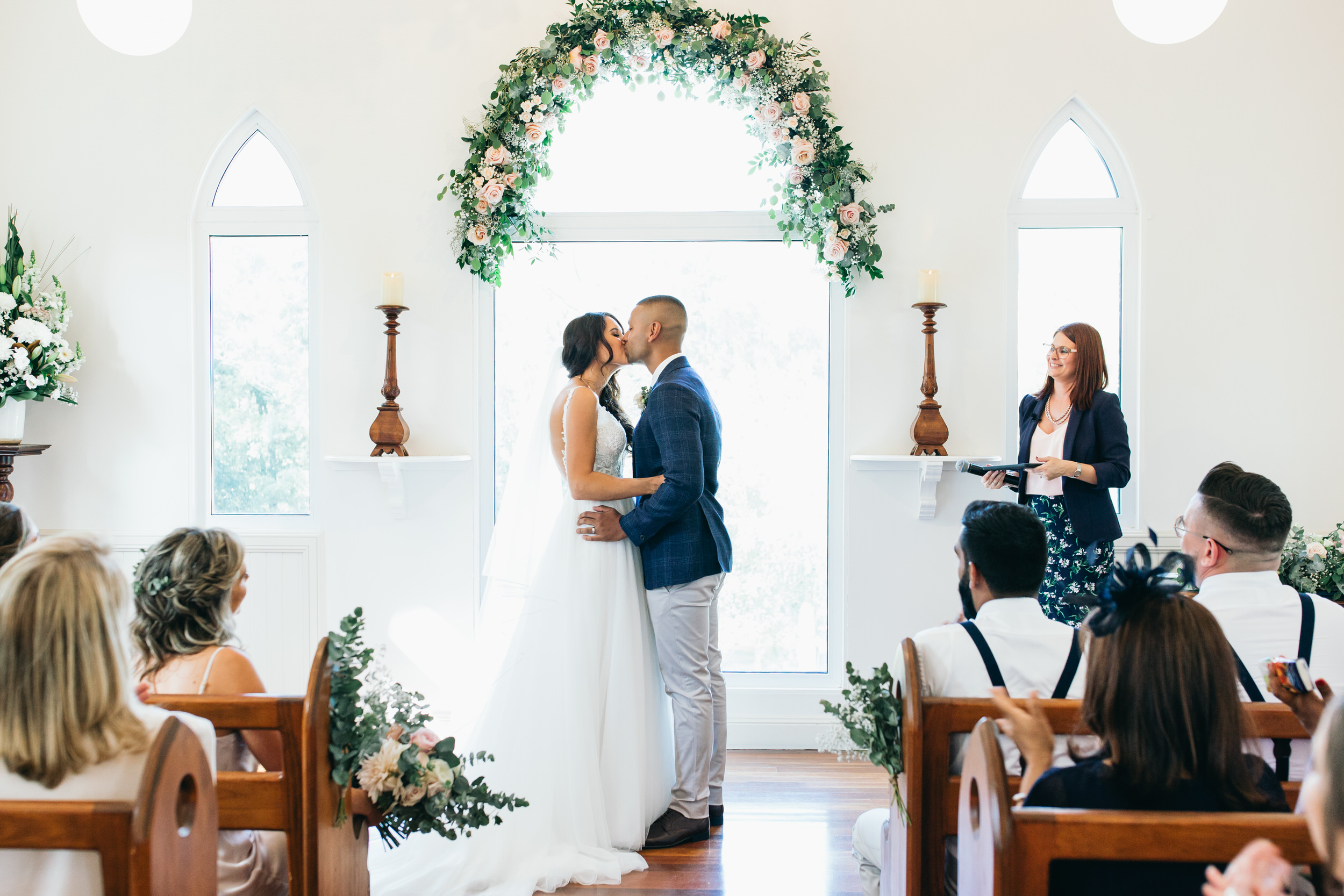 courtney and aaron wedding braeside chapel weddings australia