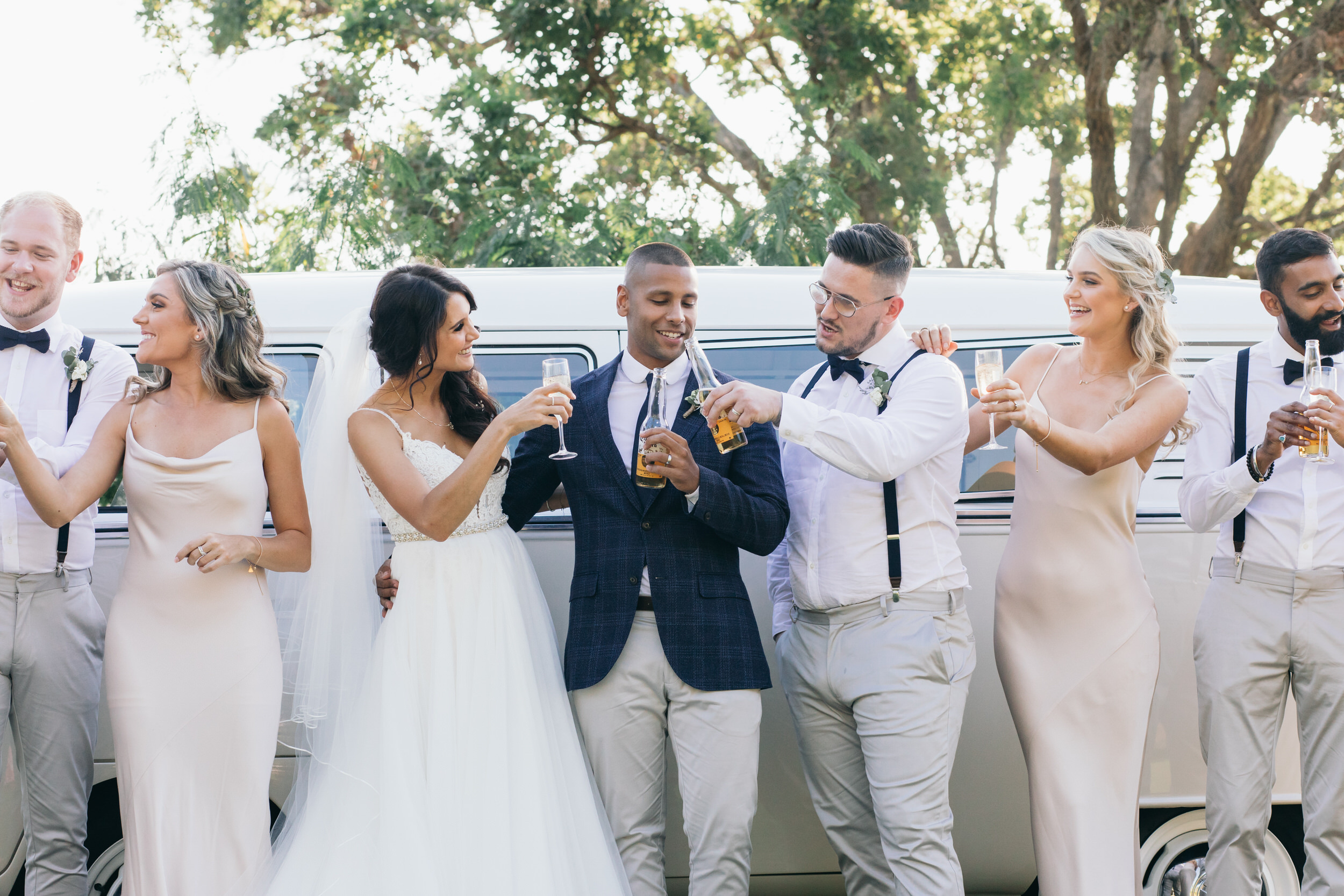 wedding bridal party kombi