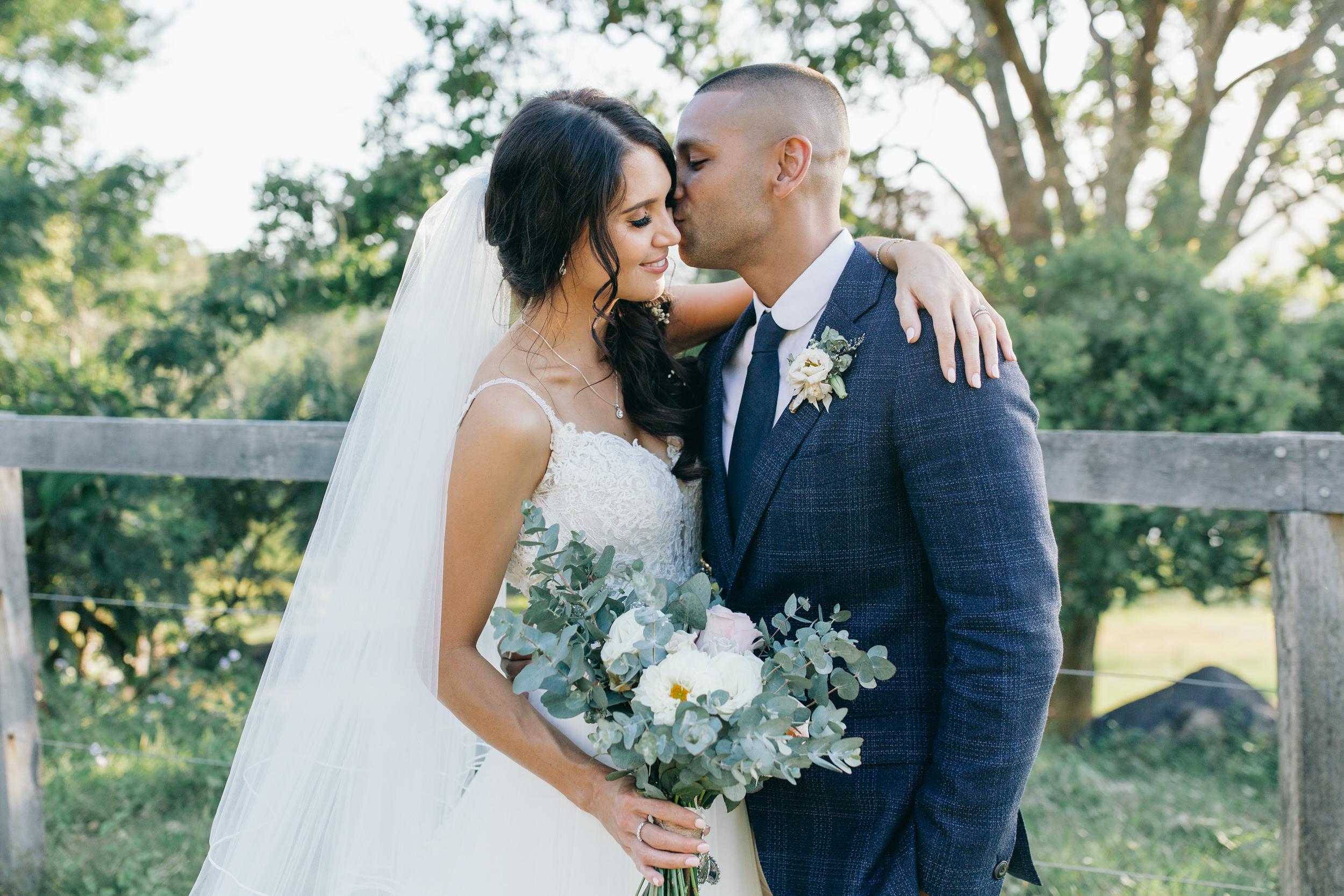 Courtney and Aaron real wedding