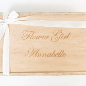 flower girl gift box custom engraved