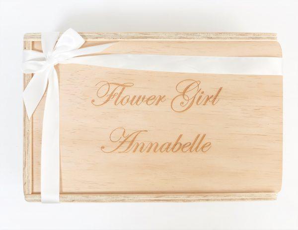 flower girl gift box custom engraved