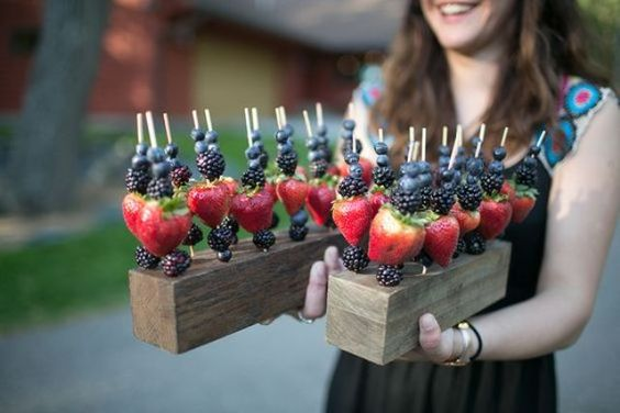 fruit sticks wedding