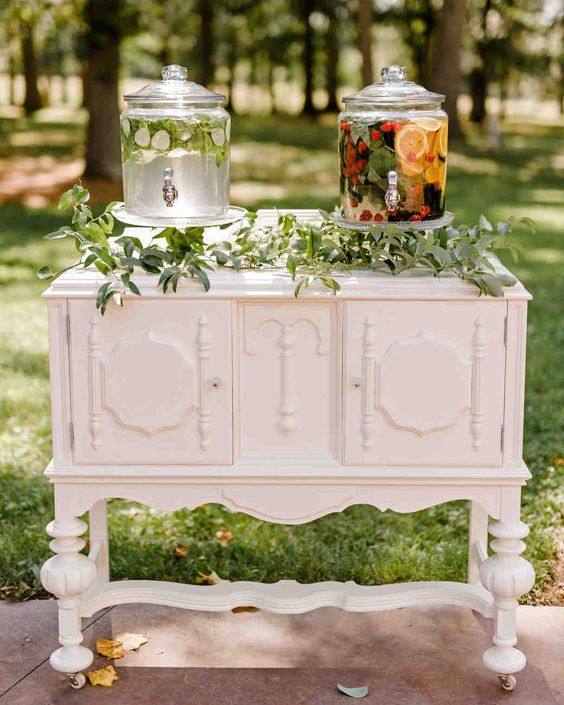 decorative hydration station wedding