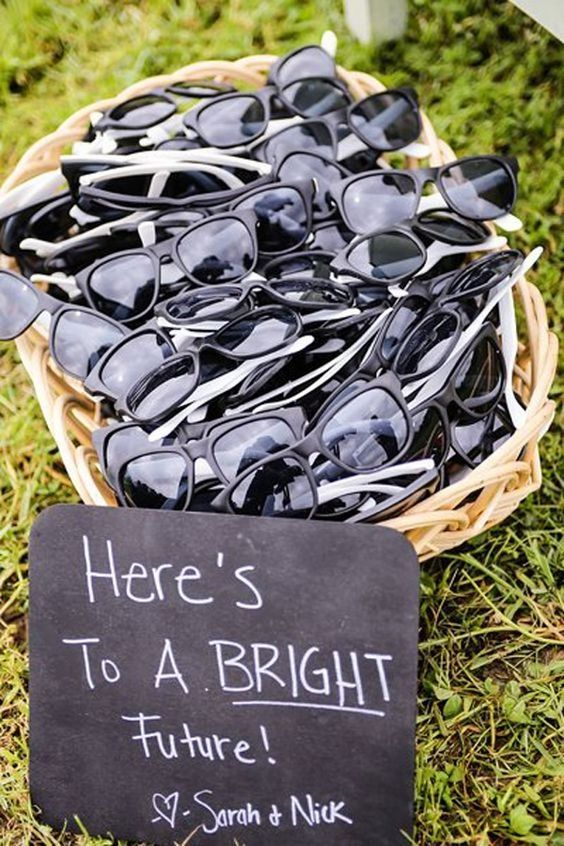 bright future wedding sunglasses